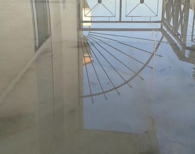 Γυάλισμα μαρμάρων - Μπαλκόνι